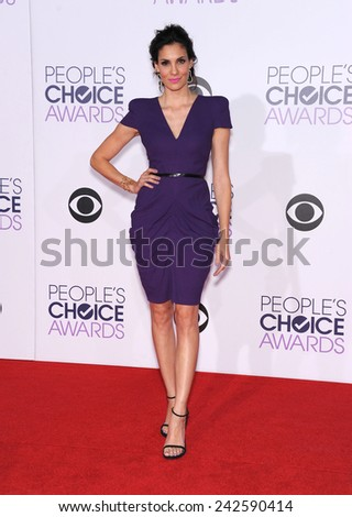 LOS ANGELES - JAN 07:  Daniela Ruah arrives to the People's Choice Awards 2014  on January 7, 2015 in Los Angeles, CA