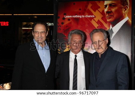 "LOS ANGELES - JAN 25:  David Milch, Dustin Hoffman, Michael Mann arrives at  the ""Luck"" Los Angeles Premiere of HBO Series at Graumans Chinese Theater on January 25, 2012 in Los Angeles, CA"