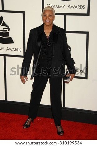 LOS ANGELES - JAN 26:  Dionne Warwick arrives at the 56th Annual Grammy Awards Arrivals  on January 26, 2014 in Los Angeles, CA                 - stock photo