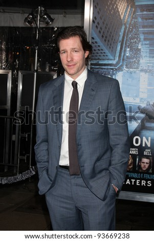 "LOS ANGELES - JAN 23:  Ed Burns arrives at  the ""Man On A Ledge"" Los Angeles Premiere at Graumans Chinese Theater on January 23, 2012 in Los Angeles, CA"