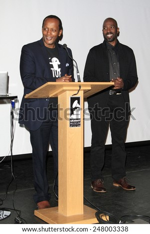 LOS ANGELES - JAN 28: Eric Kabera, Ntare Guma Mbaho Mwine at the 30th Anniversary of 'We Are The World' at The GRAMMY Museum on January 28, 2015 in Los Angeles, California - stock photo