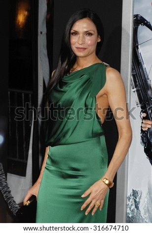 LOS ANGELES - JAN 24 - Famke Janssen arrives at the Hansel and Gretel Witch Hunters Los Angeles Premiere on January 24, 2013 in Hollywood, CA              - stock photo