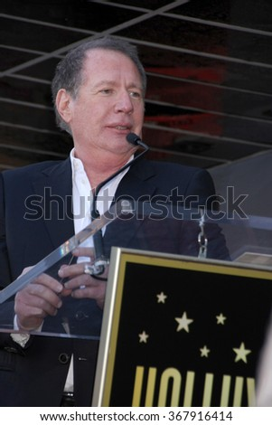 LOS ANGELES - JAN 25:  Garry Shandling at the David Duchovny Hollywood Walk of Fame Star Ceremony at the Fox Theater on January 25, 2016 in Los Angeles, CA - stock photo