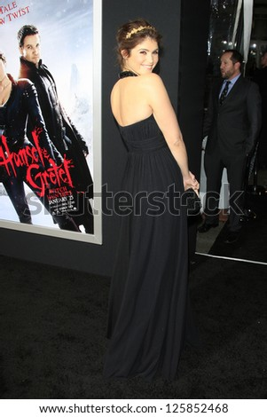 LOS ANGELES - JAN 23: Gemma Arterton at the LA premiere of Paramount Pictures' 'Hansel And Gretel: Witch Hunters' at Grauman's Chinese Theater on January 24, 2013 in Los Angeles, California - stock photo