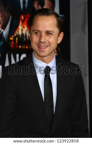 LOS ANGELES - JAN 7:  Giovanni Ribisi arrives at the 'Gangster Squad' Premiere at Graumans Chinese Theater on January 7, 2013 in Los Angeles, CA - stock photo