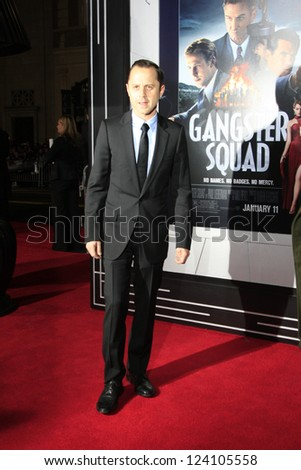 LOS ANGELES - JAN 7: Giovanni Ribisi at Warner Bros. Pictures' 'Gangster Squad' premiere at Grauman's Chinese Theater on January 7, 2013 in Los Angeles, California - stock photo