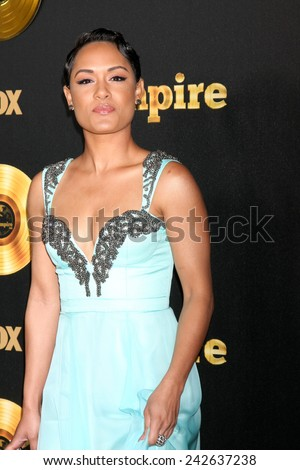 "LOS ANGELES - JAN 6:  Grace Gealey at the FOX TV ""Empire"" Premiere Event at a ArcLight Cinerama Dome Theater on January 6, 2014 in Los Angeles, CA - stock photo"