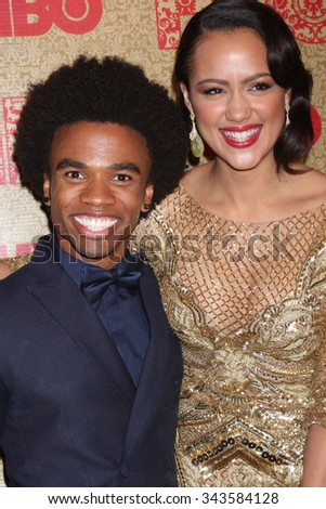 LOS ANGELES - JAN 12:  Guest, Nathalie Emmanuel at the HBO 2014 Golden Globe Party at the Beverly Hilton Hotel on January 12, 2014 in Beverly Hills, CA - stock photo