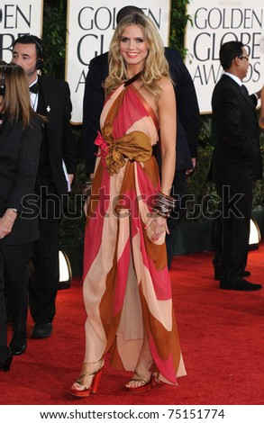 LOS ANGELES - JAN 16:  Heidi Klum arrives to the 68th Annual Golden Globe Awards  on January 16, 2011 in Beverly Hills, CA