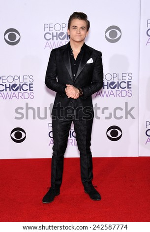 LOS ANGELES - JAN 07:  Hunter Hayes arrives to the People's Choice Awards 2014  on January 7, 2015 in Los Angeles, CA                 - stock photo