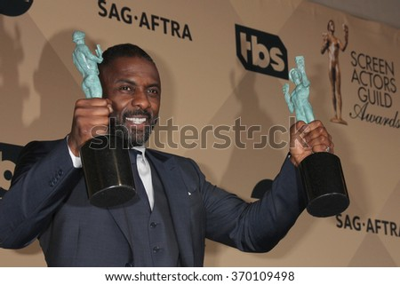 LOS ANGELES - JAN 30:  Idris Elba at the 22nd Screen Actors Guild Awards at the Shrine Auditorium on January 30, 2016 in Los Angeles, CA - stock photo