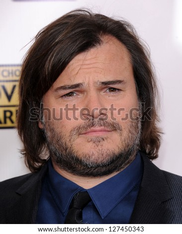 "LOS ANGELES - JAN 10:  Jack Black arrives to the ""Critic's Choice Awards 2013  on January 10, 2013 in Santa Monica, CA"