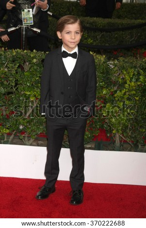 LOS ANGELES - JAN 30:  Jacob Tremblay at the 22nd Screen Actors Guild Awards at the Shrine Auditorium on January 30, 2016 in Los Angeles, CA - stock photo