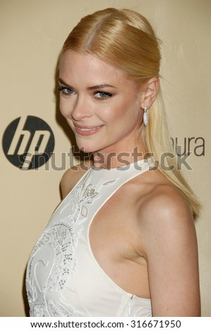 LOS ANGELES - JAN 13 - Jaime King arrives at the 2013 Weinstein Company Golden Globes After Party  on January 13, 2013 in Beverly Hills, CA              - stock photo