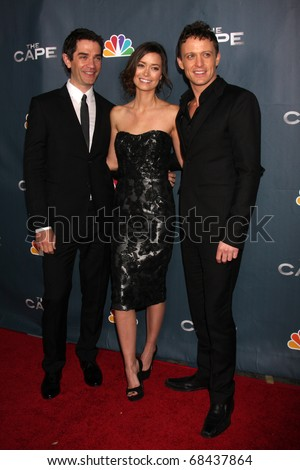 "LOS ANGELES - JAN 4:  James Frain, Summer Glau, David Lyons arrives at ""The Cape"" Premiere Party at Music Box Theater on January 4, 2011 in Los Angeles, CA"