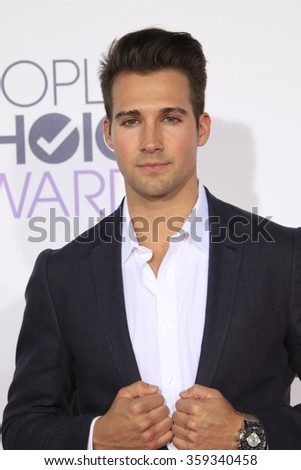 LOS ANGELES - JAN 6:  James Maslow at the Peoples Choice Awards 2016 - Arrivals at the Microsoft Theatre L.A. Live on January 6, 2016 in Los Angeles, CA - stock photo