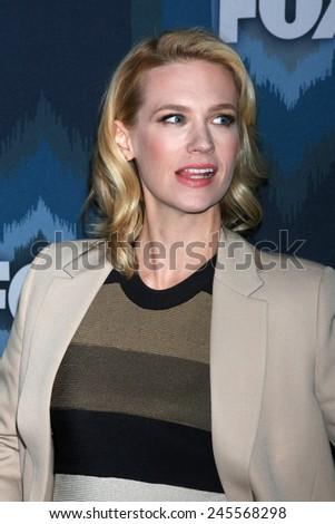 LOS ANGELES - JAN 17:  January Jones at the FOX TCA Winter 2015 at a The Langham Huntington Hotel on January 17, 2015 in Pasadena, CA - stock photo
