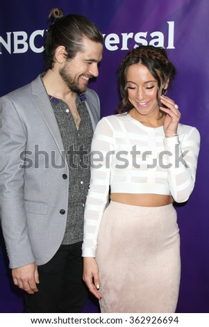 LOS ANGELES - JAN 14:  Jason Ralph, Stella Maeve at the NBCUniversal Cable TCA Press Day Winter 2016 at the Langham Huntington Hotel on January 14, 2016 in Pasadena, CA - stock photo
