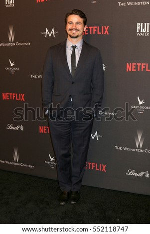 LOS ANGELES - JAN 8:  Jason Ritter at the Weinstein And Netflix Golden Globes After Party at Beverly Hilton Hotel Adjacent on January 8, 2017 in Beverly Hills, CA