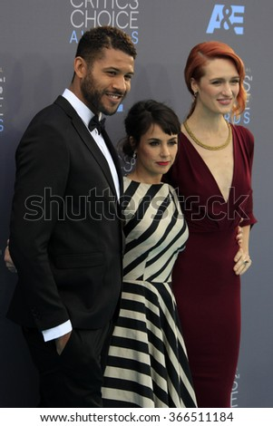 LOS ANGELES - JAN 17:  Jeffrey Bowyer-Chapman, Constance Zimmer, Breeda Wool at the 21st Annual Critics Choice Awards at the Barker Hanger on January 17, 2016 in Santa Monica, CA