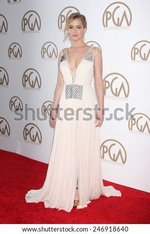 LOS ANGELES - JAN 24:  Jennifer Lawrence at the Producers Guild of America Awards 2015 at a Century Plaza Hotel on January 24, 2015 in Century City, CA - stock photo