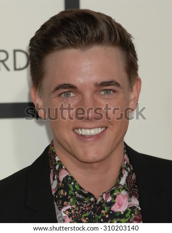 LOS ANGELES - JAN 26:  Jesse McCartney arrives at the 56th Annual Grammy Awards Arrivals  on January 26, 2014 in Los Angeles, CA                 - stock photo