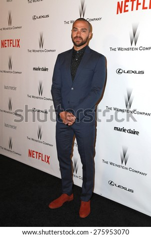 LOS ANGELES - JAN 11:  Jesse Williams at the The Weinstein Company / Netflix Golden Globes After Party at a Beverly Hilton Adjacent on January 11, 2015 in Beverly Hills, CA - stock photo
