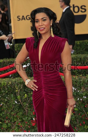 LOS ANGELES - JAN 25:  Jessica Pimentel at the 2015 Screen Actor Guild Awards at the Shrine Auditorium on January 25, 2015 in Los Angeles, CA - stock photo