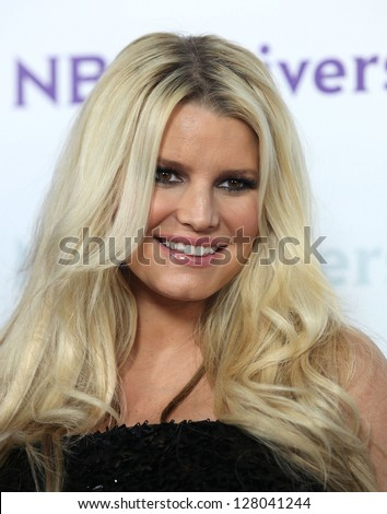 LOS ANGELES - JAN 06:  JESSICA SIMPSON arriving to TCA Winter Press Tour 2012: NBC Party  on January 06, 2012 in Pasadena, CA - stock photo