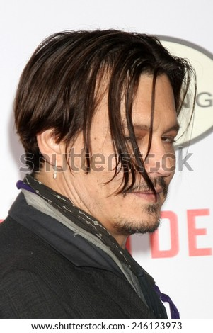 "LOS ANGELES - JAN 21:  Johnny Depp at the ""Mortdecai"" LA Premiere at a TCL Chinese Theater on January 21, 2015 in Los Angeles, CA"