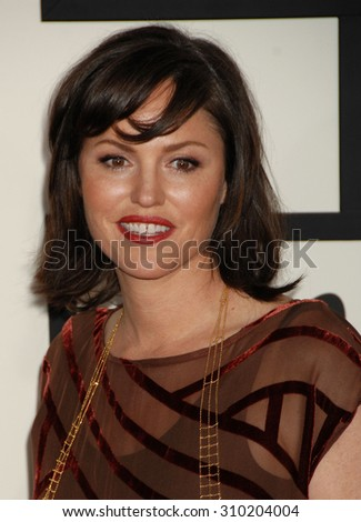 LOS ANGELES - JAN 26:  Jorja Fox arrives at the 56th Annual Grammy Awards Arrivals  on January 26, 2014 in Los Angeles, CA                 - stock photo