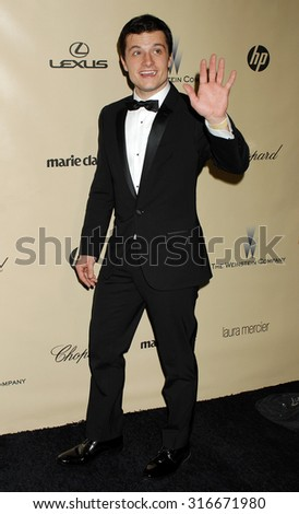 LOS ANGELES - JAN 13 - Josh Hutcherson arrives at the 2013 Weinstein Company Golden Globes After Party  on January 13, 2013 in Beverly Hills, CA              - stock photo
