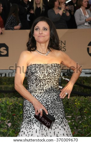 LOS ANGELES - JAN 30:  Julia Louis-Dreyfus at the 22nd Screen Actors Guild Awards at the Shrine Auditorium on January 30, 2016 in Los Angeles, CA - stock photo