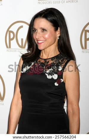 LOS ANGELES - JAN 24:  Julia Louis-Dreyfus at the Producers Guild of America Awards 2015 at a Century Plaza Hotel on January 24, 2015 in Century City, CA - stock photo