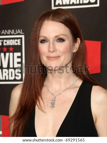 "LOS ANGELES - JAN 14: Julianne Moore arrives to 16th Annual ""Critics"" Choice Movie Awards  on January 14, 2011 in Los Angeles, CA. - stock photo"