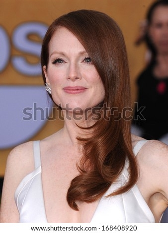 LOS ANGELES - JAN 27:  Julianne Moore arrives to the SAG Awards 2013  on January 27, 2013 in Los Angeles, CA                 - stock photo