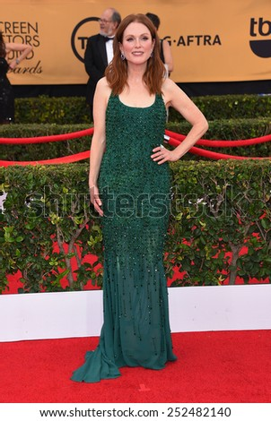 LOS ANGELES - JAN 25:  Julianne Moore arrives to the 21st Annual Screen Actors Guild Awards  on January 25, 2015 in Los Angeles, CA