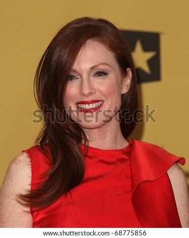 LOS ANGELES - JAN 15:  Julianne Moore arrives to the 15th Annual Critics Choice Movie Awards  on January 10,2011 in Hollywood, CA - stock photo