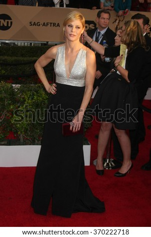 LOS ANGELES - JAN 30:  Julie Bowen at the 22nd Screen Actors Guild Awards at the Shrine Auditorium on January 30, 2016 in Los Angeles, CA - stock photo
