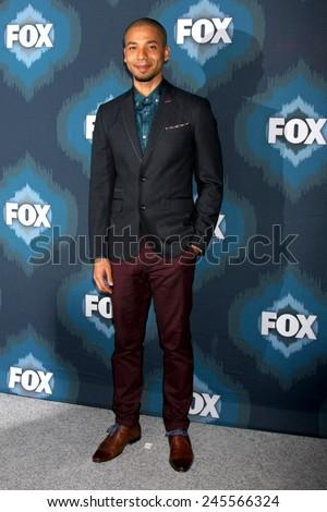 LOS ANGELES - JAN 17:  Jussie Smollett at the FOX TCA Winter 2015 at a The Langham Huntington Hotel on January 17, 2015 in Pasadena, CA - stock photo