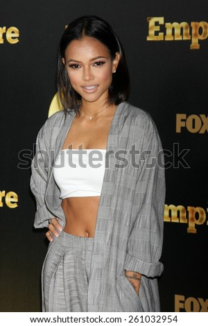 "LOS ANGELES - JAN 6:  Karrueche Tran at the FOX TV ""Empire"" Premiere Event at a ArcLight Cinerama Dome Theater on January 6, 2014 in Los Angeles, CA - stock photo"