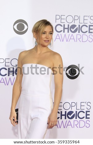 LOS ANGELES - JAN 6:  Kate Hudson at the Peoples Choice Awards 2016 - Arrivals at the Microsoft Theatre L.A. Live on January 6, 2016 in Los Angeles, CA - stock photo