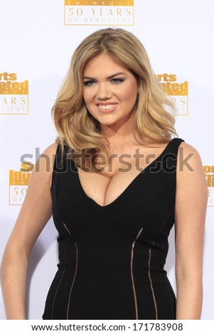 LOS ANGELES - JAN 14:  Kate Upton at the 50th Sports Illustrated Swimsuit Issue at Dolby Theatre on January 14, 2014 in Los Angeles, CA