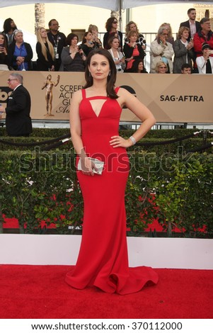 LOS ANGELES - JAN 30:  Katie Lowes at the 22nd Screen Actors Guild Awards at the Shrine Auditorium on January 30, 2016 in Los Angeles, CA - stock photo