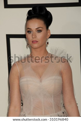 LOS ANGELES - JAN 26:  Katy Perry arrives at the 56th Annual Grammy Awards Arrivals  on January 26, 2014 in Los Angeles, CA                 - stock photo