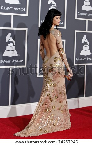 LOS ANGELES - JAN 31:  Katy Perry arriving at the 52nd Annual GRAMMY Awards held at Staples Center in Los Angeles, California on January 31, 2010. - stock photo