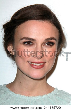 LOS ANGELES - JAN 11:  Keira Knightley at the The Weinstein Company / Netflix Golden Globes After Party at a Beverly Hilton Adjacent on January 11, 2015 in Beverly Hills, CA - stock photo