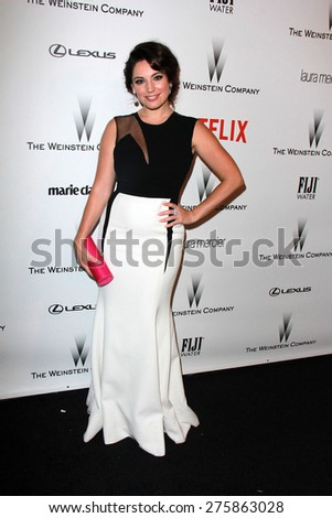 LOS ANGELES - JAN 11:  Kelly Brook at the The Weinstein Company / Netflix Golden Globes After Party at a Beverly Hilton Adjacent on January 11, 2015 in Beverly Hills, CA - stock photo