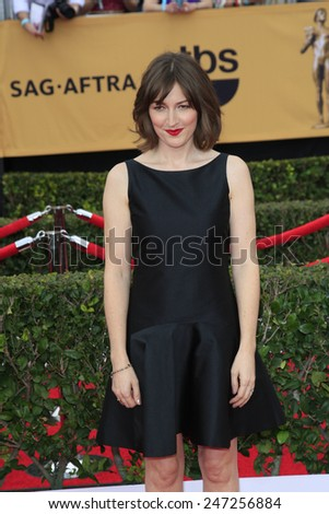 LOS ANGELES - JAN 25:  Kelly MacDonald at the 2015 Screen Actor Guild Awards at the Shrine Auditorium on January 25, 2015 in Los Angeles, CA - stock photo