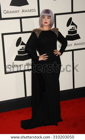 LOS ANGELES - JAN 26:  Kelly Osbourne arrives at the 56th Annual Grammy Awards Arrivals  on January 26, 2014 in Los Angeles, CA                 - stock photo